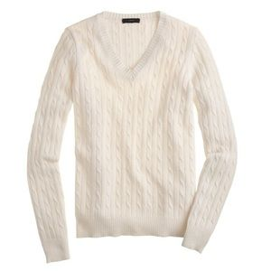 J. Crew Cambridge Cashmere-Blend Sweater in Ivory